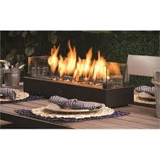decofire black gas fire table top