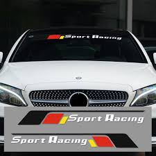 Waterproof Auto Car Window Decal Performance Sport Racing Sticker For Mercedes Benz A C E S Cla Front Windshield Car Styling Car Stickers Aliexpress