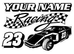 Personalized Modified Racing V7 Decal Sticker