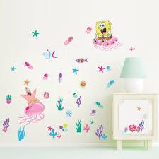 10pcs Pack Spongebob Squarepants Coral Kids Wall Stickers Vinyl Decal Nursery Decor Gift Wall Stickers Aliexpress