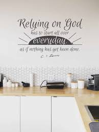 Relying On God Cs Lewis Vinyl Wall Decal Wrath And Grace