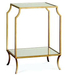 glass side table with shelf stockcast