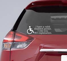 Disabled Permit Decal Handicapped Decal Invisible Disability Etsy In 2020 Equality Bumper Sticker Equality Decal Invisible Disability
