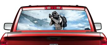 Product Star Wars Stormtrooper Movies Rear Window Decal Sticker Pick Up Truck Suv Car 2