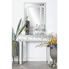 litton lane white wall mirror and