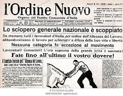 SMO Prima pagina de 'l'Ordine Nuovo' lo sciopero nazionale è ...