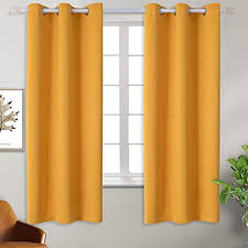 Amazon Com Bgment Blackout Curtains For Kids Bedroom Grommet Thermal Insulated Room Darkening Curtains For Nursery Set Of 2 Panels 42 X 63 Inch Mustard Yellow Home Kitchen