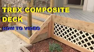 posite and cedar wood deck skirting