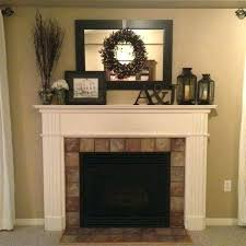 mantels brick fireplace