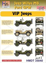 Modelimex Online Shop 1 35 Decals Jeep Willys Mb Ford Gpw Vip Jeeps 3 Your Favourite Model Shop