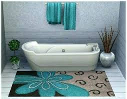 winning turquoise and brown bath rugs