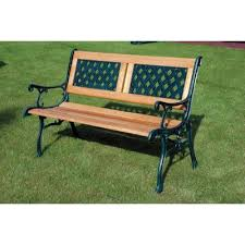 kingfisher 2 seater wooden park bench