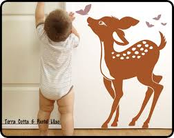 Baby Deer Wall Decal Baby Fawn Butterflys Nursery Wall Etsy Wall Decals Toddler Deer Wall Decal Nursery Wall Decals