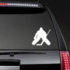 Hokey Goalie For Car Window Sticker Sportesi