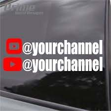 Custom Your Youtube Channel Decal Set Of 2 Car Wall Sticker Vinyl