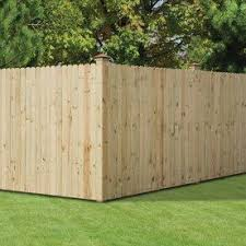 Severe Weather Actual 6 Ft X 8 Ft Natural Pressure Treated Pine Dog Ear Wood Fence Panel Lowes Com Wood Privacy Fence Wood Fence Building A Fence