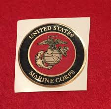 Usmc Marine Corps Full Color 2 Inch Epoxy Dome Car Decal Sticker Emblem For Sale Online Ebay