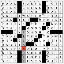 nyt crossword puzzle