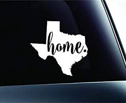 Amazon Com 3 Home Texas State Austin Symbol Sticker Decal Car Truck Window Computer Laptop White Automotive