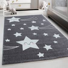Teppium Kids Play Mat Rug Baby Room Carpet With Stars Grey Carpet Ceres Webshop