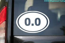 0 0 Running Oval Vinyl Decal Sticker 6 X 4 No Miles Not A Runner Lazy Minglewood Trading