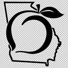 Georgia Peach Decal State Outline Vinyl Decal Sticker Window Bumper Laptop Ebay