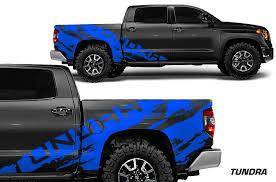 Toyota Tundra 2014 2017 Crew Cab Custom Vinyl Decal Kit Tundra Shred Factory Crafts