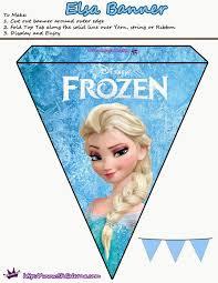Frozen Lindos Banderines Para Imprimir Gratis Ideas Y Material