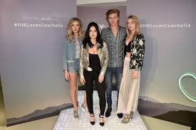 Lucky Blue Smith, Pyper America, Starlie And Daisy Clementine Of The  Atomics Perform At The Launch Of The H&M Loves Coachella Collection In  Times Square