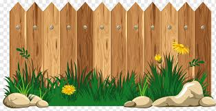 Picket Fence Cartoon Fence Fence Grass Flower Png Pngwing