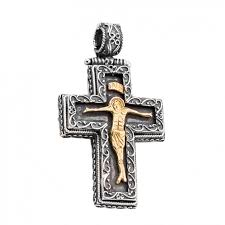 st221 sterling silver orthodox crucifix
