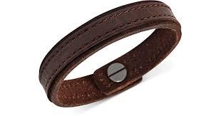 brown leather bracelet for men lyst