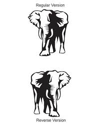Lucky Elephant Wall Decal Home Decor 142 Stickerbrand