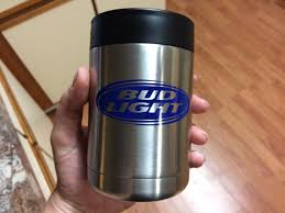 Bud Light Decal On Yeti Colster Coozie Made With Cricut Explore Air Bud Light Light Vinyl Decals