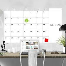 Dry Erase Monthly Whiteboard Calendar Wall Decal Calendar Etsy