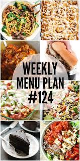 weekly menu plan 124 real housemoms