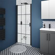 arezzo 950mm matt black grid frameless