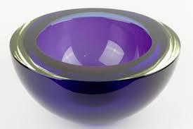 huge italian murano sommerso glass bowl
