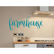 Home Decor Kitchen Wall Art Farmhouse Letters Decal Art Quote Stickers Opt1 23x8 Inch Teal Walmart Com Walmart Com