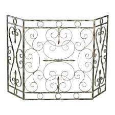 screen scrolled metal antique white