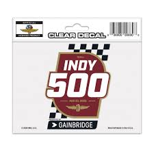 2020 August Indy 500 Event Clear Decal Ims Indycar Online Store
