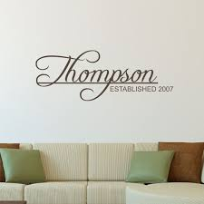 Last Name Decal Established Date Wall Decal Family Name Mr And Mrs Wedding Date Wall Decor Family Name Wall Stickers Wall Stickers Family Wall Decals