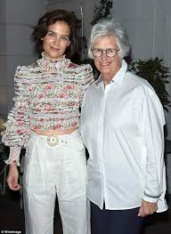 Katie Holmes poses with her mother Kathleen at Ava DuVernay party | Daily  Mail Online