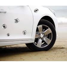 12 X Funny Simulation Gun Bullet Hole Stickers Car Decal For Toyota Ford Chevrolet Volkswagen Vw Honda Hyundai Kia Lada Car Decal Bullet Holefor Toyota Aliexpress