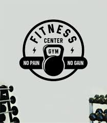 Fitness Center Gym Wall Decal Home Decor Bedroom Room Vinyl Sticker Ar Boop Decals