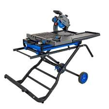 wet tile saw with folding portable