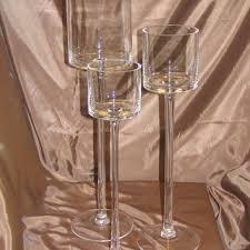 tall glass candle holders on wanelo