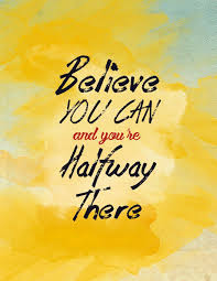 believe you can and you re halfway there weekly planner