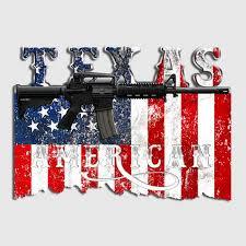 Texas American Flag Assault Rifle Gun Decal