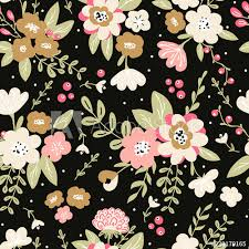 trendy colorful seamless fl pattern